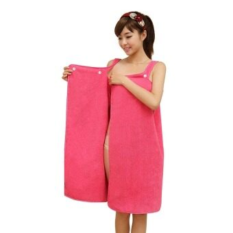 Harga Upgraded Magic Towel With Button Magic Multi Sexy Women Beach Bath Towel Travel Body Wrap Absorbent Microfiber Shower Bath Drying Terry Towel Magic Multi Sexy Women Beach Bath Towel (Pink)
