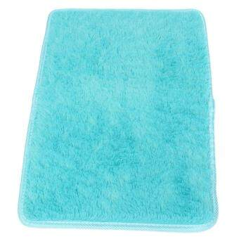 Harga Soft Anti-skid Carpet Flokati Shaggy Mat Rug For Living Dining Bedroom FloorLN Blue