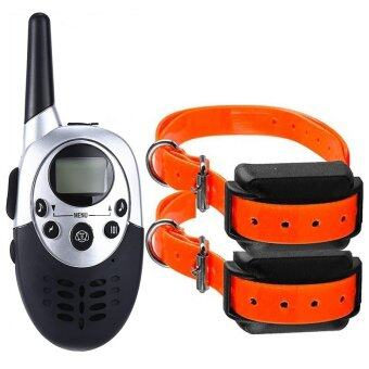 Harga Dog Trainer 300M Waterproof Rechargeable LCD Remote Pet Dog Training Collar Electric Shock Large Dog Control for two dogs