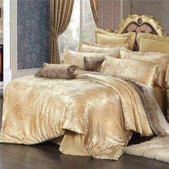Harga European Style Satin Jacquard Four Piece Bedding Set Of 4 for 1.5 Meters 1.8 Meters