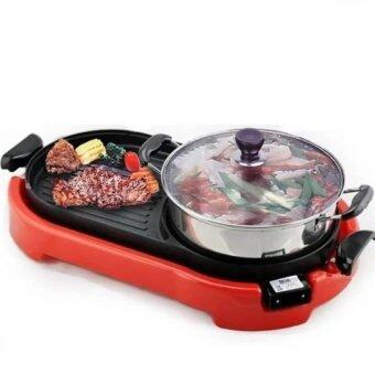 Harga Empire Living 2 in 1 BBQ Korean Electronic Pan Grill& Steamboat &Teppanyaki Combination