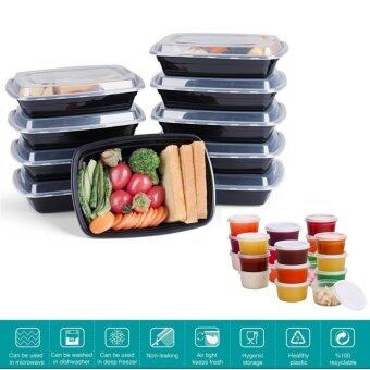 Harga 20 pack Meal Prep Containers with 5 Bonus 2oz Sauce Containers BPA Free Stackable, Reusable, Microwave, Dishwasher Food Storage Lunch Bento Boxes with Lid (34oz-1000ml)