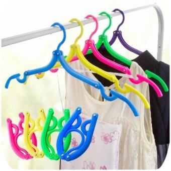 Harga Pack of 10PCS Foldable Travel Clothes Hangers Coat Hanger with Anti-slip Grooves