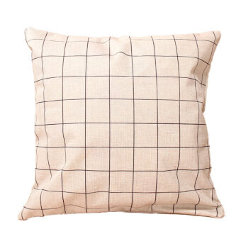 Harga Geometry Nature Cotton Linen Pillow Case