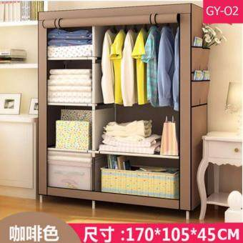 Harga Le Huo Shi Guang GY-02 High Quality Roll Up Curtain Dust and Water Resistance DIY Modern Multifunctional Cloth Wardrobe