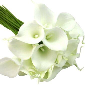 Harga Cocotina 10 x White Artificial Latex Calla Lily Flowers Bouquet Garden Home Wedding Decor