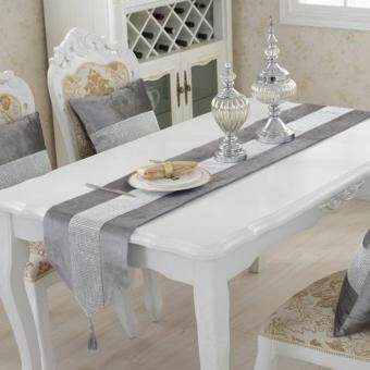 Harga Table Runner Flannel Diamond Table Cloth Table Decoration Home Decoration Grey S