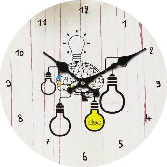 Harga HOT SELLER Wall Clock Creative minimalist glass wall clock bedroom wall clock clocks creative gifts 5# With best service