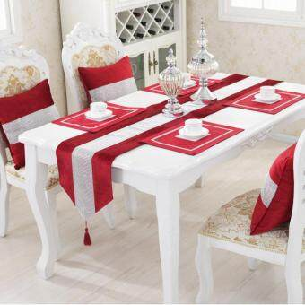 Harga Table Runner Flannel Diamond Table Cloth Table Decoration Home Decoration Red S
