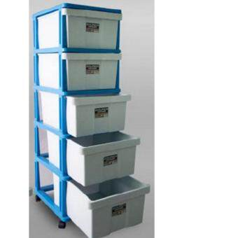 Harga Twins Dolphin Drawer Container 5 Tier 292-L5