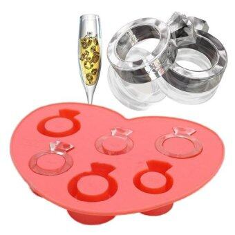 Harga Ice Tray Diamond Love Ring Ice Cube Style Freeze Ice Mold Ice Maker Mould