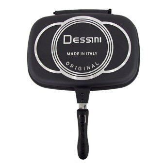 Harga Nuevo Italy Dessini Double Sided Pressure Grill Frying Pan - 36CM (Black)