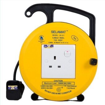 Harga 1 Gang Cable Reel With 7Meter (Yellow)