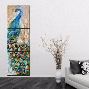 Harga HD Canvas Print Home Decor Wall Art Painting Picture - Peacock