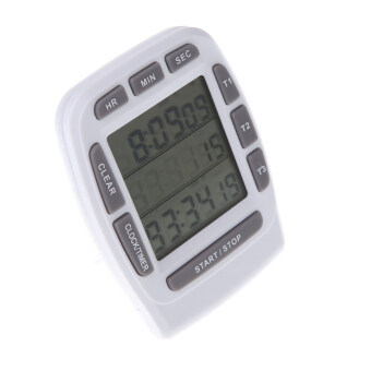 Harga LCD Digital Alarm Timer with Triple Display 3-Line Timer Countdown Stopwatch