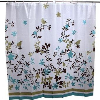 Harga YBC Home Decor Bathroom Waterproof Mouldproof Floral Shower Curtain