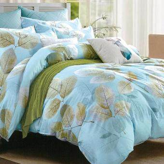 Harga Essina 100% Cotton Rosetta Collection 620TC Fitted Bedsheet set + Comforter Blanket FAUNA - King size