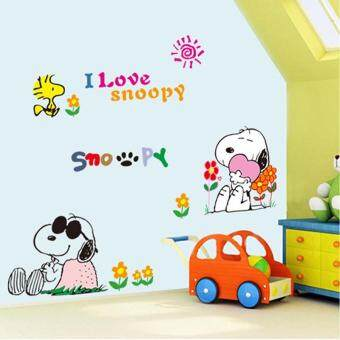 Harga Three new generation wall post kindergarten children room snoopy cartoon dog wall decorative stickers