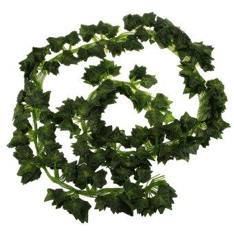 Harga BolehDeals 12Pcs Artificial Wall Hanging Ivy Vine Foliage Plant Decor Sweet Potato Leaf