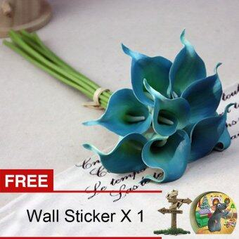 Harga Yika Artifical Flower Calla Lily (Blue) [Buy 1 Get Freebie]