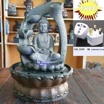 Harga Creative fountain furnishing articles household water crafts and gifts resin waterfall buddha fountain