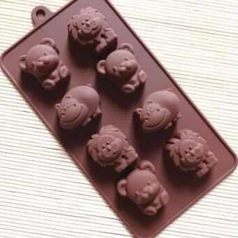Harga 8-cavity Animal Silicone Mold | Chocolate Moulds | Jelly Molds | DIY Silicon Soap Molds