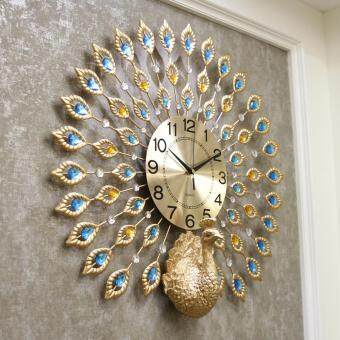 Harga Wall Clock Peacock Bells Living Room Modern Creative Clocks Simple Clock Silent Clock Quartz Clock Decoration Bells D60CM