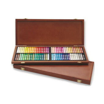 Harga Mungyo Gallery Oil Pastels Wood Box Set of 72 Standard - Assorted Colors