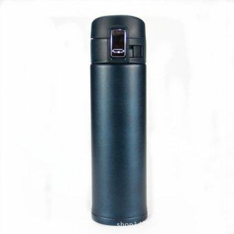 Harga 500ml Travel Mug Sport Vacuum Thermos Cup Flask with Lock Function BLUE