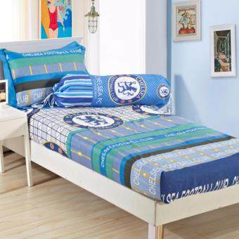 Harga Single Size Set Fitted Bedsheets Chelsea Soccer