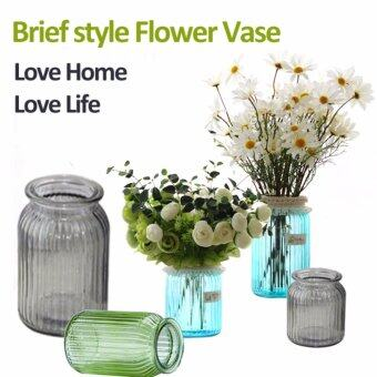 Harga Brief Fashion Style Home Decor Flower Glass Vase-Green