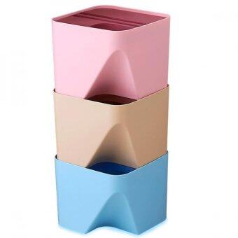 Harga 3 PCS Trash Rubbish Bin / Seperate Bin / Stackable - SMALL