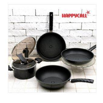 Harga [HAPPYCALL] Happy Call Diamond frying pan Black Edition four Happycall Frypan Black edition 4pcs