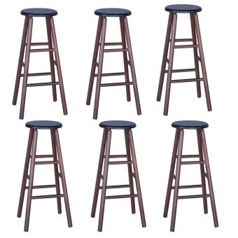 Harga HGF-ST-R700CP-6 High Bar Stool Cappuccino Set of 6
