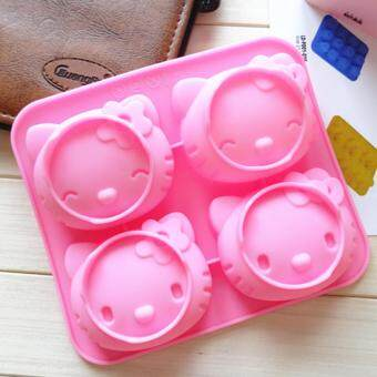 Harga 4-cavity Hello Kitty Silicone Mold | Chocolate Moulds | Jelly Molds | DIY Silicon Soap Molds