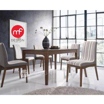 Harga MF DESIGN ADELE DINING SET 1+6 DINING CHAIR / DINING TABLE
