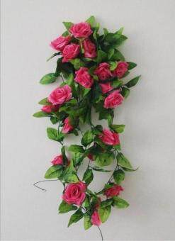 Harga Garland Home Wall Party Decor Wedding Garden Decoration Bouquet House Decor 240cm Rose Red