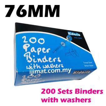 Harga Kidario Tinned Steel Premier Grip Binder / Paper Binder with Washers 76mm (200pcs/box) I JIMAT