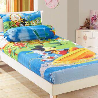 Harga Single Size Set Fitted Bedsheets Cartoon Mickey