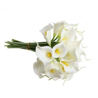 Harga Calla Lily Bridal Wedding Bouquet 10 head Latex Real Touch KC51 White