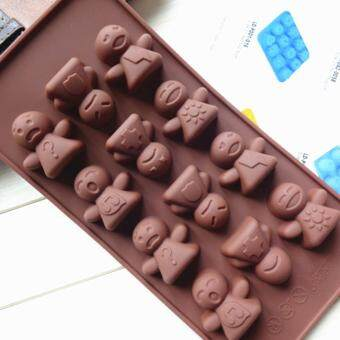 Harga 12-cavity Baby Expression Silicone Mold | Chocolate Moulds | Jelly Molds | DIY Silicon Soap Molds