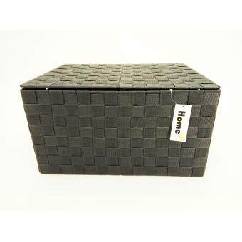 Harga Home+ PP Strap XL Storage Box with Lid & Handle - Brown/Light Brown/Silver