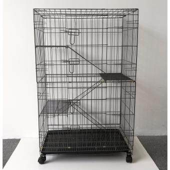 "Harga 9123# 3 Level Cat Cage Wrought Iron 30""L x 21""W x 48""H"