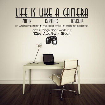 Harga Unique Removable Life Is Like A Camera Quote Wall Stickers Decals Office DIY