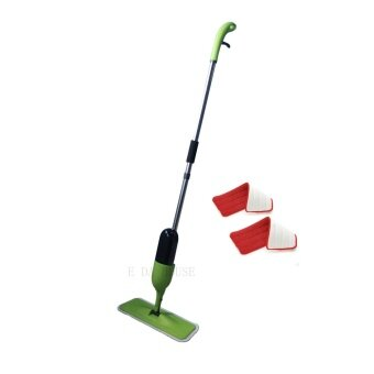 Harga Spray Mop with Microfiber Mop and free one mop pad (Green)