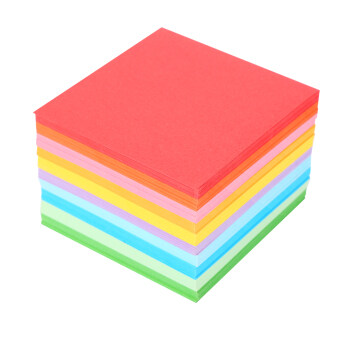 Harga 1 Pack 520 pcs Square Folding Paper Colorful Double Sided Origami Crane Craft Sheets 7x7 cm
