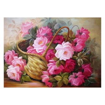 Harga Flower Basket 5D Diamond DIY Painting Craft Home Decor