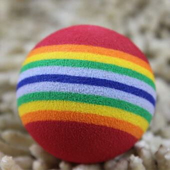 Harga Funny Pet Toy Baby Dog Cat Toys 3.5CM Rainbow Colorful Play Balls For Pets Products