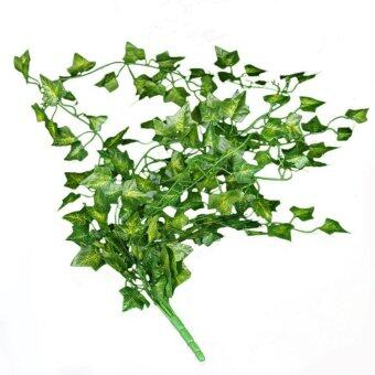 Harga Green Artificial PE Leaf Bunchs Ivy leave Garland Plants Fake Foliage Ivy leave Home Decoration Garden