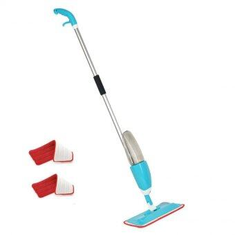 Harga Spray Mop with Microfiber Mop and free one mop pad (Blue)